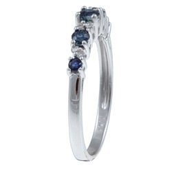 10k Gold Blue Sapphire / Diamond Accent Ring (G-H,I1-I2)