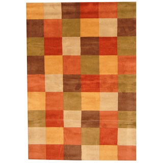Indo Hand-tufted Multi-color Wool Rug (6' x 9')