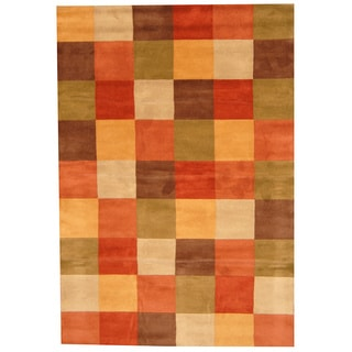 Herat Oriental Indo Hand-tufted Tibetan Multi-color Wool Rug (6' x 9')