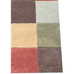 Indo Hand-tufted Multi-color Wool Rug (2' x 3')