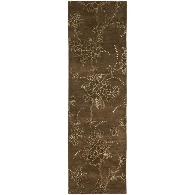 Safavieh Handmade Soho Fall Brown New Zealand Wool Runner (2'6 x 12')