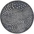 Safavieh Handmade Soho Deco Wave Dark Grey New Zealand Wool Rug (6' Round)