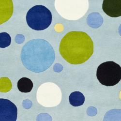 Safavieh Handmade Bubblegum Light Blue/ Multi N. Z. Wool Rug (8'3 x 11')