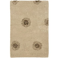 Handmade Soho Zen Beige/ Brown New Zealand Wool Rug (2' x 3')