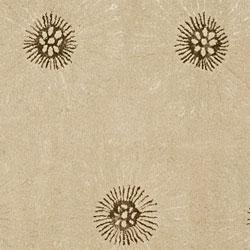 Handmade Soho Zen Beige/ Brown New Zealand Wool Rug (6' Square)