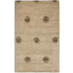 Safavieh Handmade Soho Zen Beige/ Brown New Zealand Wool Rug (7'6 x 9'6)