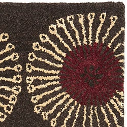 Handmade Soho Zen Coffee/ Brown New Zealand Wool Rug (2' x 3')