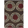 Safavieh Handmade Soho Zen Coffee/ Brown New Zealand Wool Rug (2' x 3')