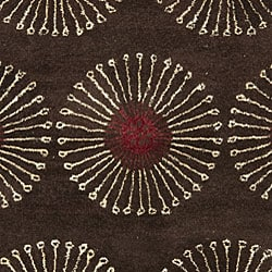 Handmade Soho Zen Coffee/ Brown New Zealand Wool Rug (3'6 x 5'6')