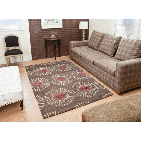 Safavieh Handmade Soho Zen Coffee/ Brown New Zealand Wool Rug (3'6 x 5'6')