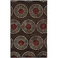 Handmade Soho Zen Coffee/ Brown New Zealand Wool Rug (5' x 8')