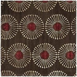 Safavieh Handmade Soho Zen Coffee/ Brown New Zealand Wool Rug (6' Square)