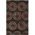 Handmade Soho Zen Coffee/ Brown New Zealand Wool Rug (7'6 x 9'6)
