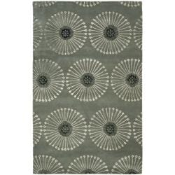 Handmade Soho Zen Grey/ Ivory New Zealand Wool Rug (3'6 x 5'6')
