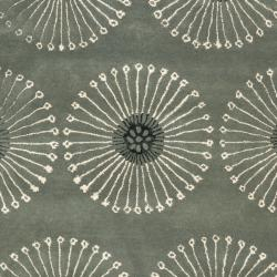 Handmade Soho Zen Grey/ Ivory New Zealand Wool Rug (7'6 x 9'6)
