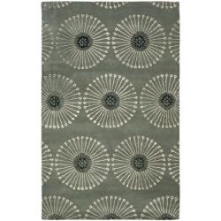 Handmade Soho Zen Grey/ Ivory New Zealand Wool Rug (7'6 x 9'6)