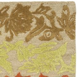 Handmade Soho Passage Sage New Zealand Wool Rug (2' x 3')