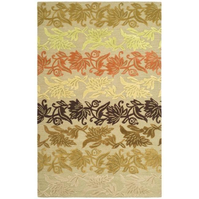 Safavieh Handmade Soho Passage Sage New Zealand Wool Rug (7'6 x 9'6)