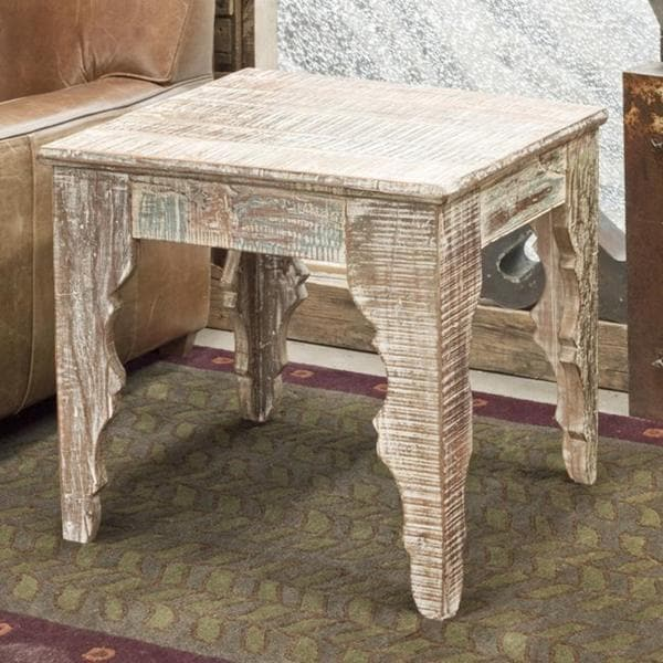 Reclaimed Wood Baturna End Table (India)