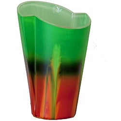 Forest Sunrise Abstract Glass Vase