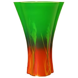 Forest Sunrise Sodium-Based Glass Vase
