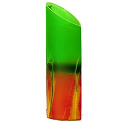 Forest Sunrise Decorative Glass Vase