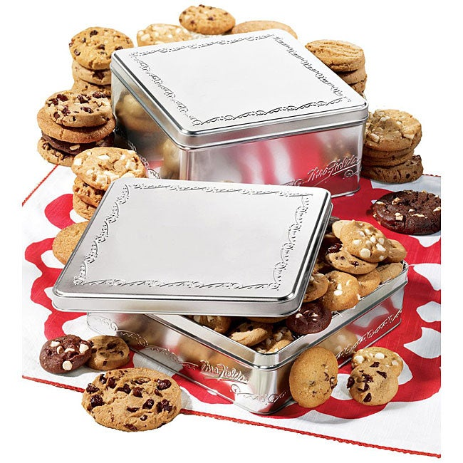 Mrs. Fields Classic Silver Six-flavor Cookie Gift Tin (24 Cookies)