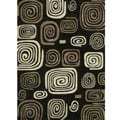 Hand-tufted Chalice Black Geometric Rug (3'6 x 5'6)