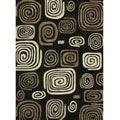 Hand-tufted Chalice Black Geometric Rug (5' x 7'6)