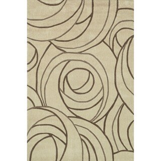 Hand-tufted Chalice Beige Rug (3'6 x 5'6)