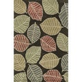 Hand-tufted Chalice Brown/ Multi Floral Rug (3'6 x 5'6)