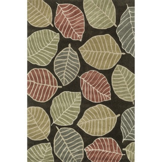 Hand-tufted Chalice Brown/ Multi Floral Rug (5' x 7'6)