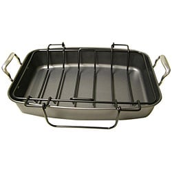 Le Chef Professional Nonstick 17.5-inch Roasting Pan with Rack