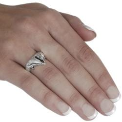 Tressa Sterling Silver Two Dolphins in a Point Ring