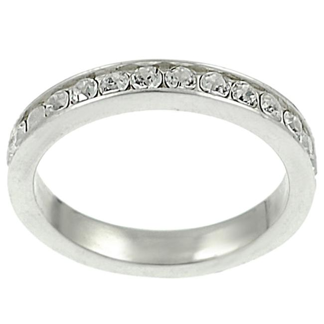 Journee Collection Round CZ Bridal & Engagement Eternity Ring