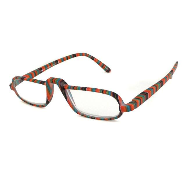 NVU Eyewear Women's Cyclone Orange Stripe Reading Glasses