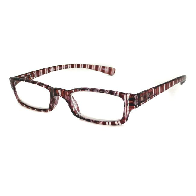 NVU Eyewear Women's Montague Burgundy Stripe Reading Glasses