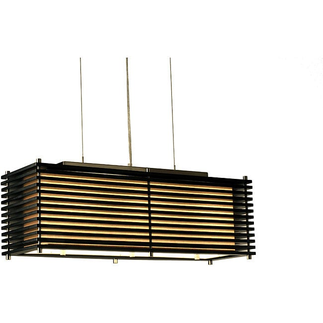 Nova Lighting 'Kimura' 3-light Wood Pendant Lamp