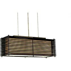 Nova Lighting 'Kimura' 3-light Wood Pendant Lamp