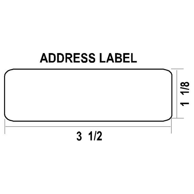 Dymo Compatible 30252 Thermal Address Labels (Pack of 4)