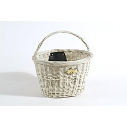 Nantucket Bicycle Co. White Wicker Basket