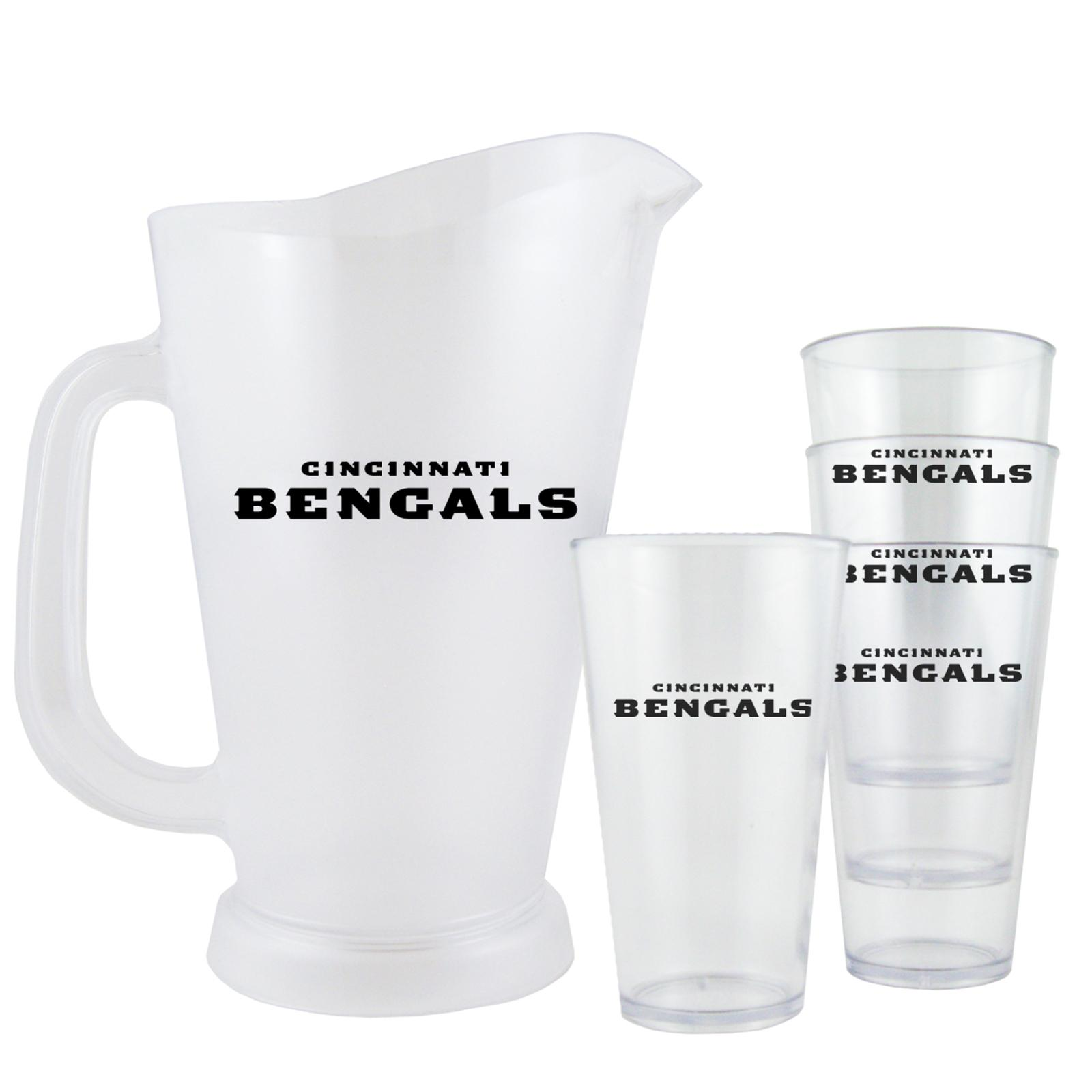 Cincinnati Bengals NFL Pitcher and Pint Glasses Set