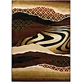 Mandara Beige Abstract Rug (7'10 x 10'6)