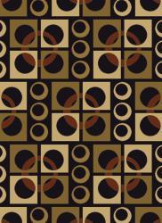 """Mandara Black Geometric Olefin Rug (5'3"""" x 7'6"""")"""