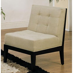 Fabric Armless Accent Chair