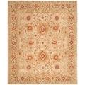 Handmade Mahal Ivory Wool Rug (9' x 12')