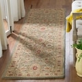 Handmade Mahal Ivory Wool Rug (9&#39; x 12&#39;)