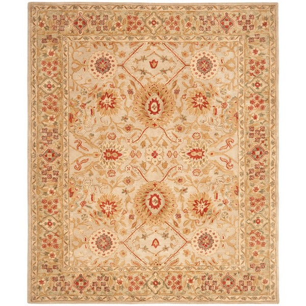 Safavieh Handmade Anatolia Grey Beige/ Sage Wool Rug (8' x 10')