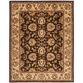 Handmade Heritage Treasure Brown/ Ivory Wool Rug (8'3 x 11')