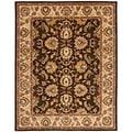 Handmade Heritage Treasure Brown/ Ivory Wool Rug (8'3 x 11')